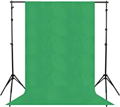 LDGHO GREEN Photo 6 x 9FT / 1.8 x 2.8M Collapsible Backdrop Background for Photography,Video and Televison (Background ONLY) (Green, 6 x 9FT / 1.8 x 2.8M)