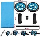 Yahee Bauchtrainer AB Wheel roller Bauchroller Bauchmuskeltrainer mit Fitnessmatte - 4