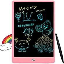 FLUESTON LCD Writing Tablet 10 Inch Drawing Pad, Colorful Screen Doodle and Scribbler Boards for Kids, Traveling and Educational Learning Toys for 2 3 4 5 6 Year Old Boys and Girls