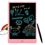 FLUESTON LCD Writing Tablet 10 Inch Drawing Pad, Colorful Screen Doodle and Scribbler Boards for Kids, Learning Toys for 2 - 8 Year Old Girls
