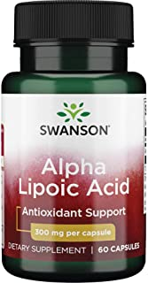 Alpha Lipoic Acid Antioxidant Protection Promotes Healthy Blood Sugar Supplement 300 mg 60 Capsules