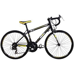 IRONMAN Koa 24, Unisex Junior Road Bike, 14 Speed, 24 Inch Wheel, Black/Yellow