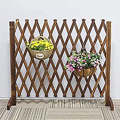 WXking Zäune freistehender Zaun Erweiterbarer Gartenzaun, Abnehmbarer Zaun, Holzgarten Kleine Trellis Zaun, Spielzeug, Garten, Dekorationen