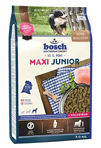 bosch HPC Maxi Junior | Hundetrockenfutter zur Aufzucht großer Rassen (ab 25 kg) | 1 x 3 kg