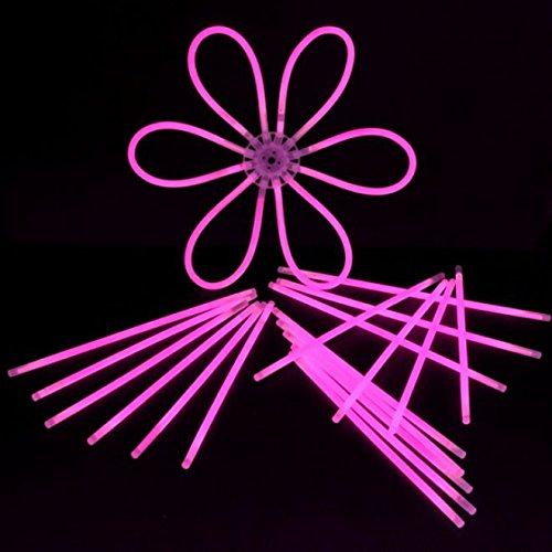 decotrend-line-100Pulseras Starlight Glowstick flúor neón, Color Rosa, 100102