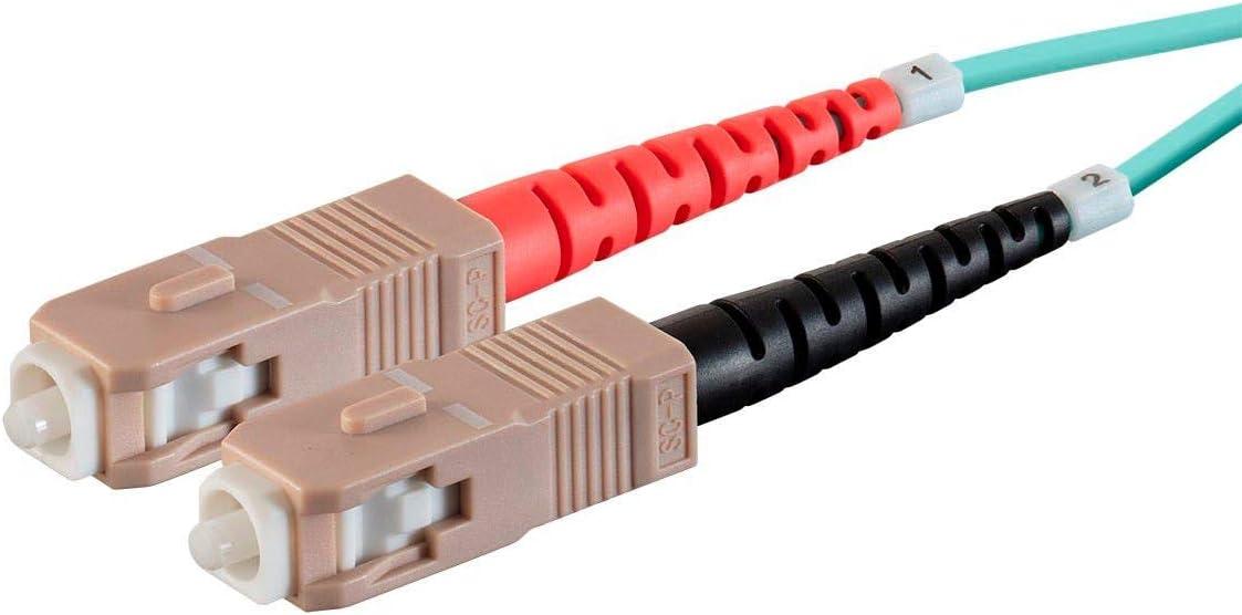 2.0mm Meter - LC//UPC-SC//UPC 50//125 Type Monoprice OM3 Fiber Optic Cable Multi Mode 1M PVC Duplex
