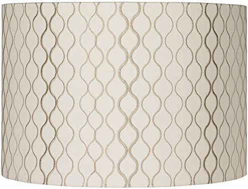 Embroidered Hourglass Lamp Shade 16x16x11 Spider Springcrest product image