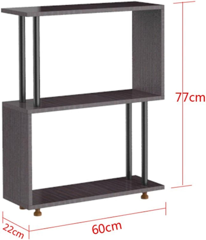 Chunlan Bookshelf Modern Minimalist Small Bookshelf Multilayer Multifunction Household Shelves,Available in A Variety of Sizes (Size   Walnut color6022  77)