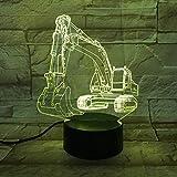3D Illusioni Lampada LED Vangatrici Notturna 7 Colori Dimmerabile Lampade da Tavolo con USB Tocco Pulsante Illuminazione della Camera da Letto per Bambini Regalo Casa Decorazione