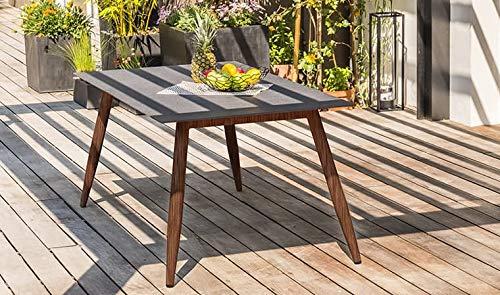 DCB GARDEN SCANDI-TB160 Table de Jardin, Marron, L 160 x l 90 x H 74 cm