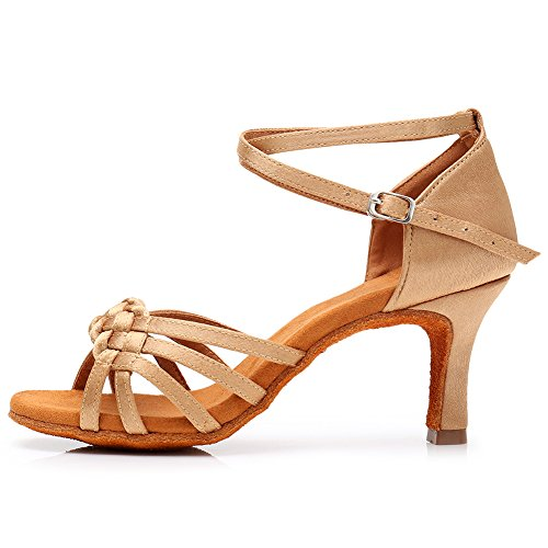 SWDZM Mujer Zapatos de Baile/Latin/Ballroom modelo-LP218-7 Beige 40EU/26CM