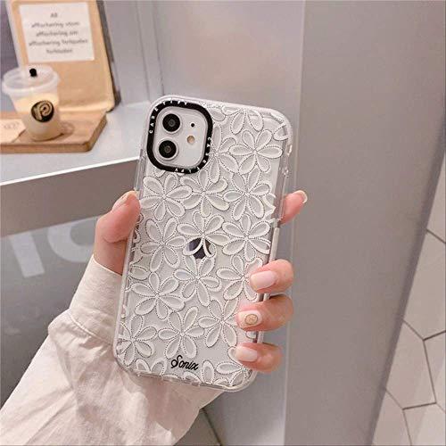 Retro Art Flower Lace Linda Funda para teléfono para iPhone 11 Pro MAX XR X XS XS MAX Funda de Silicona para Coque iPhone 7 6s 8 Plus Funda para iPhone 6 02