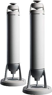 Egretta エグレッタ スピーカー バスレフタワー型 ハイレゾ 45,000Hz リビング 本格 「TS1000F」 360°無指向性(スパークルホワイト 漆喰)