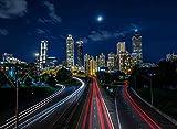 Adult Jigsaw Puzzle Night Skyline City Atlanta Georgia USA 500-Pieces
