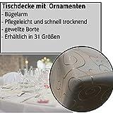JEMIDI Tischdecke Ornamente Seidenglanz Edel Tisch Decke Tafeldecke 31 Größen und 7 Farben Creme Oval 130×220 - 2