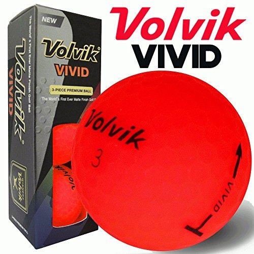 Balles de golf rouges Volvik Vives, pochette de 3balles