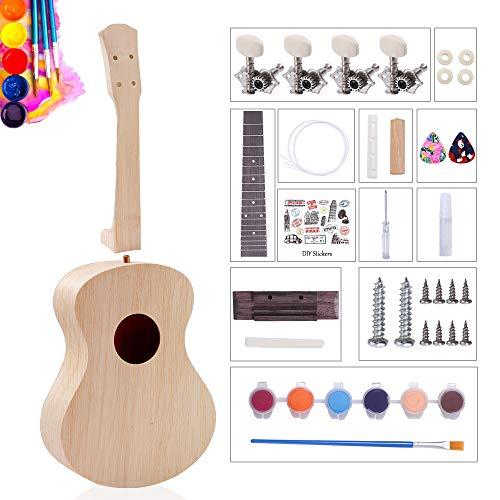 DIY Ukulele Kit Make Your Own Hawaii Ukulele Kit With Installation Tools Dyeable Ukulele Guitar for...