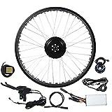 Ebike Umbausatz, 48V 500W Elektrofahrrad Kit, 26-Zoll-E-Bike-Fahrradmotor-Umrüstsatz für Hinterräder Nabenmotor Rad mit Regler, LCD Bildschirm(2#)