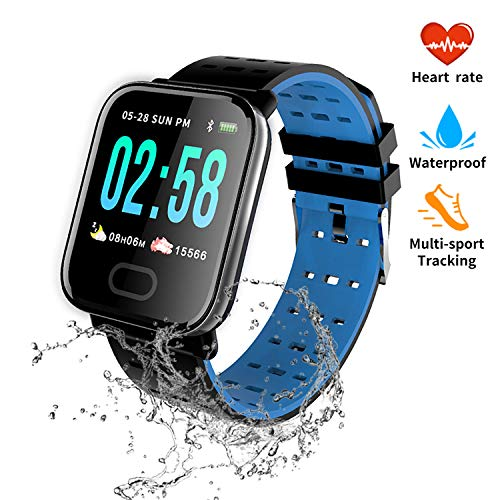 nicegh Activity Tracker,Smartwatch with Blood Press&Heart Rate Monitor, 1.3'' Color Screen IP67 Waterproof Fitness Tracker,Sleep Monitor Calorie Counter, Pedometer for Men Women and Kids