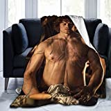 Outlander Jamie Fraser Blanket Throw Blankets Ultra Soft Flannel Lightweight Throws for Couch, Bed, Plush Fuzzy Flannel Microfiber Warm Thermal Blanket All Seasons Use 50'x40'