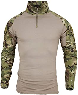 Big Size S-5XL Men Military Shirts Combat Uniform Long Sleeve Tactical Shirts Camouflage Breathable Shirt