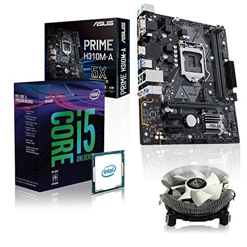 Memory PC Aufrüst-Kit Intel Core i5-8400 6X 2.8 GHz, 0 GB DDR4, ASUS Prime H310M-A, Intel UHD 630 4K, komplett fertig montiert und getestet