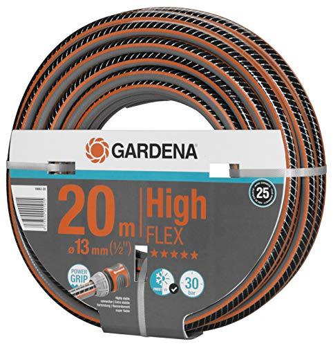 Gardena Comfort HighFLEX Schlauch 13mm (1/2 Zoll), 20 m: Gartenschlauch mit Power-Grip-Profil, 30 bar Berstdruck, formstabil, UV-beständig (18063-20)