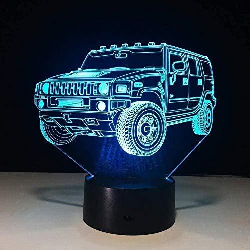 YOUPING Luz fantasma 3D coche frío 7 colores led lámpara de mesa interruptor táctil USB nueva lámpara niños luz de dormir para amigos led niños s luz de noche