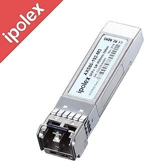 ipolex 10Gb/s SFP+ 10GBase-SR Transceiver Module for Cisco SFP-10G-SR, Ubiquiti, D-Link, Supermicro, Netgear, Mikrotik, ZTE (MMF, 850nm, 300-Meter, DDM)