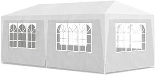 vidaXL Carpa de Jardin con Paredes Ventanas Plástico Blanco 3x6m Tienda Fiesta