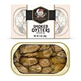 Otter Kingdom Premium Smoked Oysters in Pure Olive Oil, 3-Ounce Cans (Pack of 12)