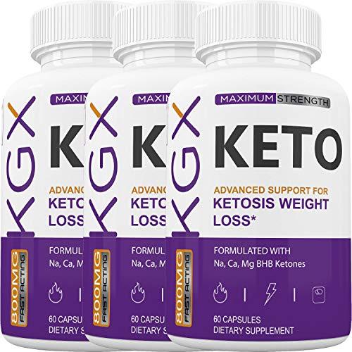KGX Keto - Burn Fat for Energy Not Carbs - Boost BHB Ketosis Ketones - Burn Stubborn Fat - Increase Energy & Focus Supplement (3 Month Supply)