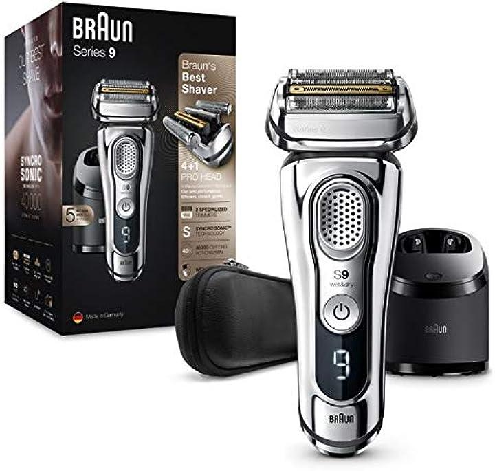 Rasoio elettrico barba ricaricabile senza fili braun series 9 9395cc 4210201200222