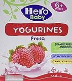 Hero Baby Yogurines Fresa, 4 x 100g