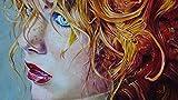 Xofjje Pintar por Numeros Adultos Niños Principiantes_Retrato de niña_Juegos de Kits de Pintar por Números_para Decoración del Hogar Viene con Pinturas y Pincel_40x50cm_Sin Marco