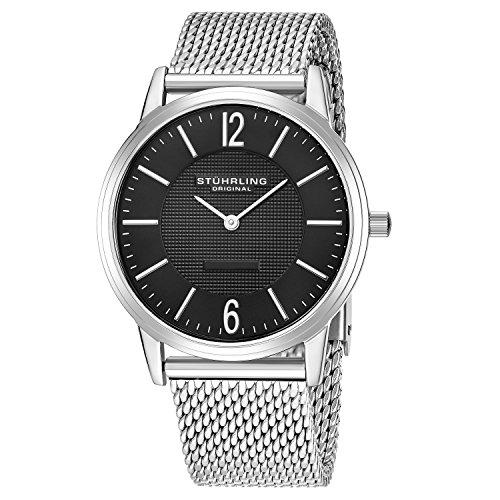 Stührling Original 122.33111 - Reloj analógico para hombre, correa de acero inoxidable, color plateado