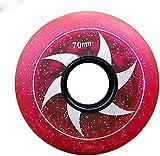 ZJFF Inline Skate Wheels, 85A Beginner Kids Skate Wheel 64Mm 68Mm 70Mm Hockey Inline Roller Skates and Luggage Suitcase for Kids Teens Wheels Beginner Skate Replacement Wheel 8-Pack