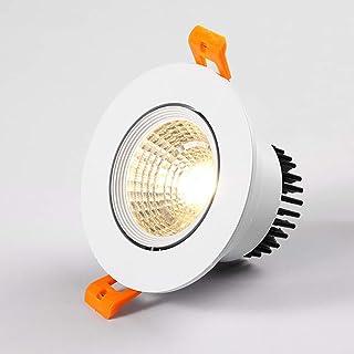 Zkciss Foco LED de techo Lámparas planas Aluminio blanco ...