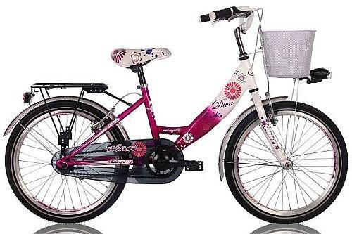 Frank Bikes 20 Zoll Cityrad Cityfahrrad Mädchenfahrrad Kinderfahrrad Citybike City Fahrrad mit RÜCKTRITTBREMSE STVO inkl. Metallkorb Diva PINKWEISS