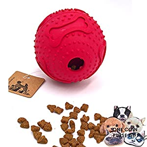 PetFun Novel Smart Doggy Challenging Dispenser Treat TPR Round Waggle Toy, 3 Sizes Small, Medium and Large