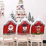 WZhen 47 x 60 cm Natale cappello di Babbo Natale coprisedia tovaglia cena decorazione casa ornamenti