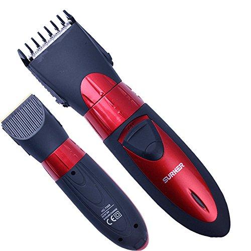 Rasuradora para barba, cabello, grande, negro Surker, impermeable, ajustable.