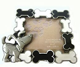 sweet cartoon dog bone silver photo frame for dog-themed bedrooms
