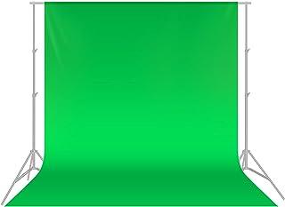 Neewer Achtergrond voor fotostudio, greenscreen, 1,8 x 2,8 m, van mousseline, opvouwbaar, voor fotografie, video en televi...