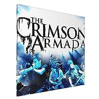 The Crimson Armada アートパネル アート ポスター 壁画 壁掛け 絵 モダンアート インテリア装飾 壁飾り プリントアート お洒落 新築飾り 50*50cm 雰囲気 癒し