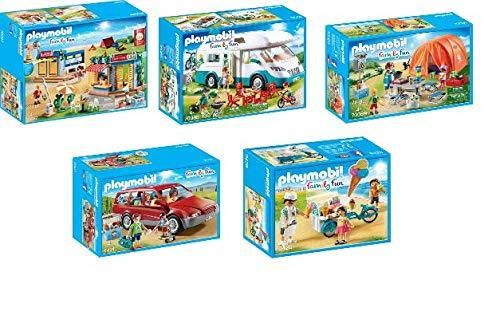 Playmo PLAYMOBIL®-Großer Campingplatz 5er-Set (Art. 70087 ; 70088; 70089 ; 9421 ; 9426)