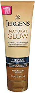 Jergens Natural Glow Daily Moisturizer Firming Medium/Tan Skin Tones 7.50 oz (Pack of 2)