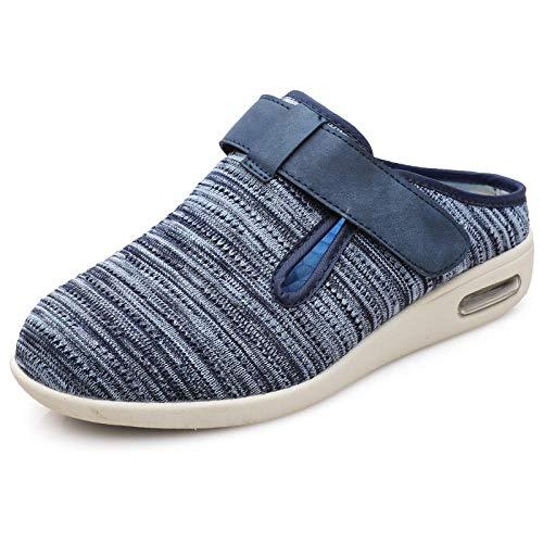 CCSSWW Zapatilla DiabéTica Sin Cordones para Mujer,Zapatos Ancianos más Fertilizantes Ampliar Zapatos hinchados por pies-Azul Claro_39,Zapatillas DiabéTicas Ajustables