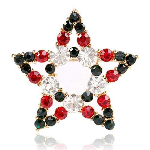 Defantia Tema de Navidad Broche Chica Diamante Estrella Cumpleaos Regalo Disfraz Accesorios Estrellas
