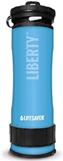 LIFESAVER Liberty Water Purifier Bottle - Dual Stage Purifier Water Bottle with Inline Pump - Removes Viruses, Bacteria an...